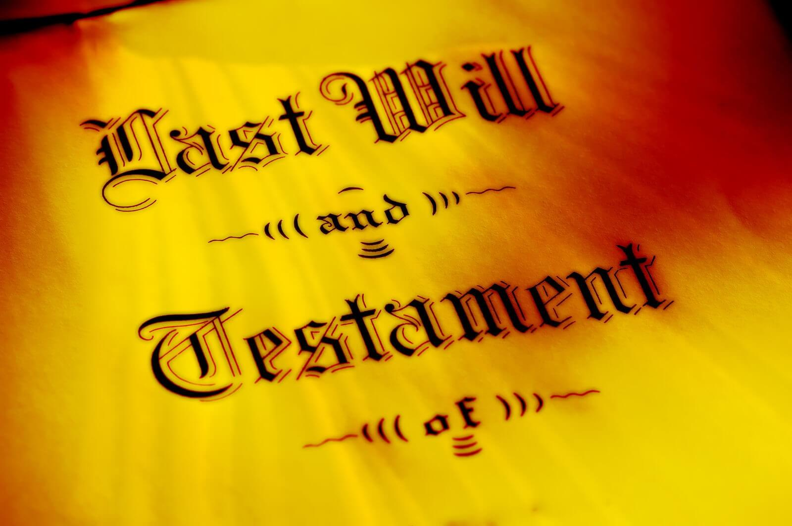 """Last Will and Testament"" Origin"